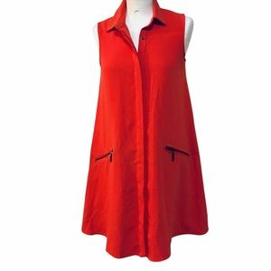 Rachel Roy Tomato Red Dress X-Small